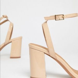 ASOS Hong Kong Barely There Block Heeled Sandals